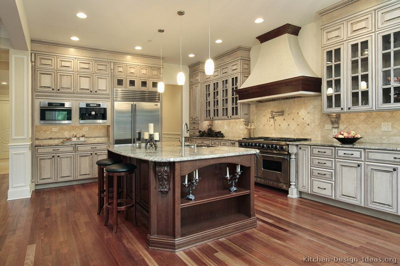 Traditional Two Tone KitchenPictures of Kitchens   Traditional   Two Tone Kitchen Cabinets  . Two Tone Kitchen Designs. Home Design Ideas