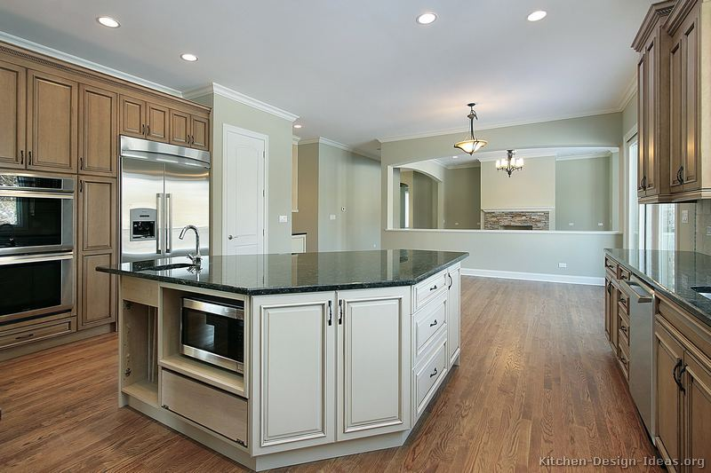 Pictures of kitchens traditional two tone kitchen cabinets page 8