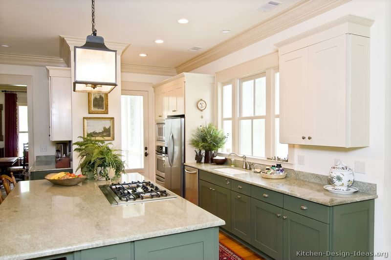 Green Cabinets In Kitchen Beauteous Pictures Of Kitchens  Traditional  Green Kitchen Cabinets Review