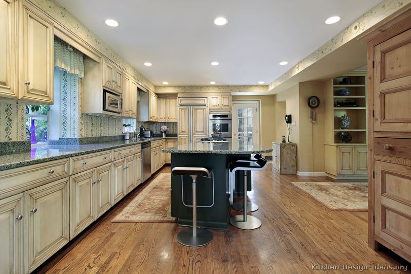 pictures of kitchens - traditional - off-white antique kitchen