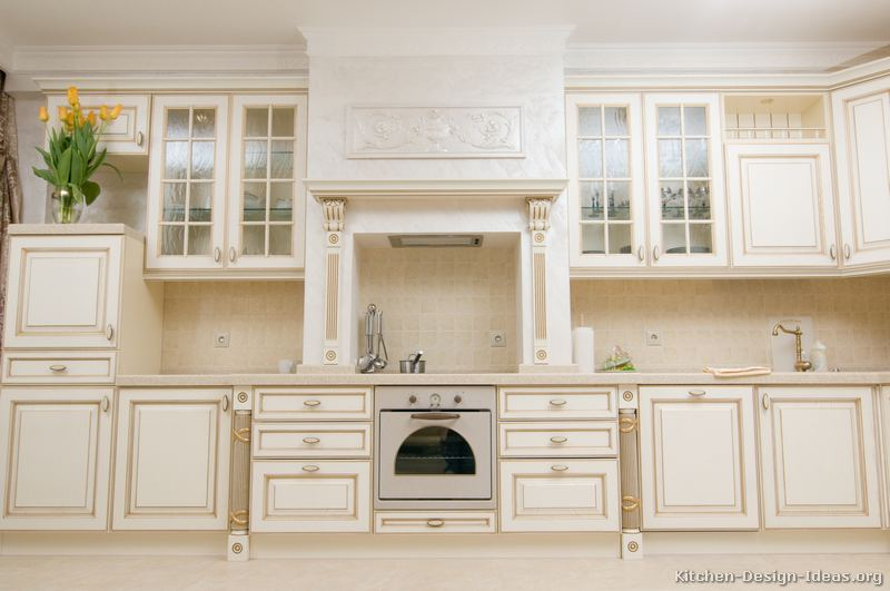 Pictures Of Kitchens Traditional Off White Antique Kitchen Cabinets Page 6