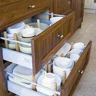Pull-Out Plate Drawers - Woodale Designs