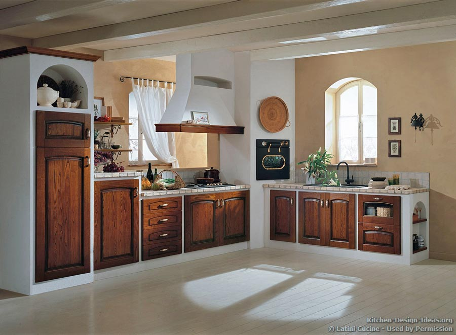 28 italian kitchen design from wood originality for Italian kitchen cabinets