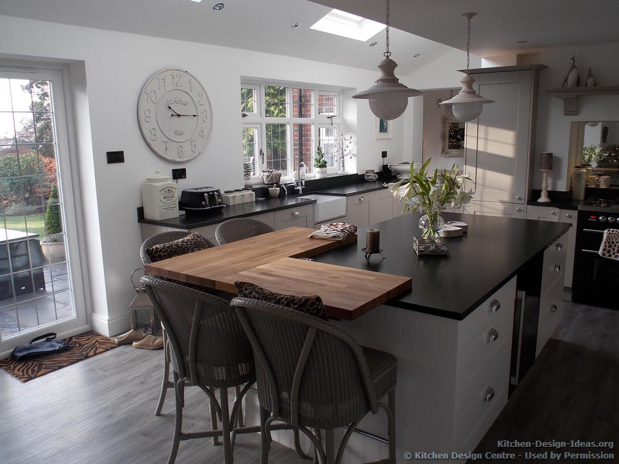 A traditional style kitchen with a twist timeless and for Black white and gray kitchen design