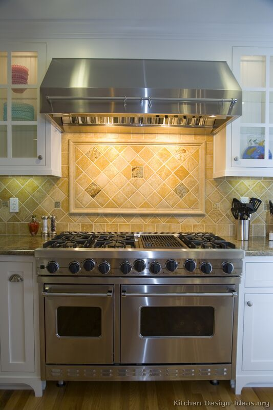 Pictures of kitchens traditional white kitchen cabinets kitchen 2 - Traditional kitchen tile backsplash ideas ...