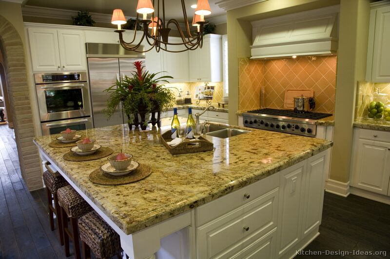 Gourmet kitchen design ideas for Kitchen design ideas white cabinets