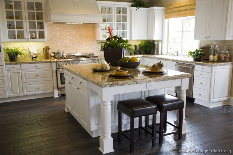 pictures of kitchenstraditionalwhite kitchen cabinets - Idea For Kitchen Cabinet