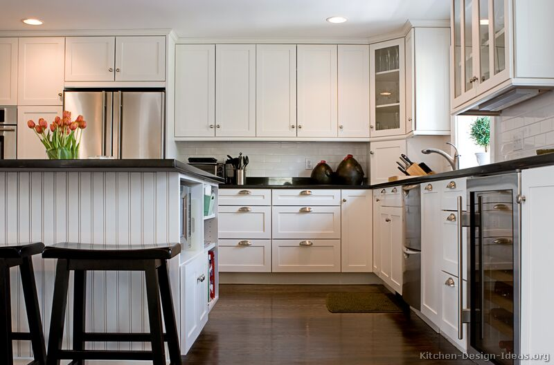 Pictures of kitchens traditional white kitchen for Kitchen cabinet remodel ideas