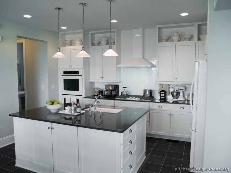 Pictures of kitchens traditional white kitchen cabinets for White kitchen cabinets