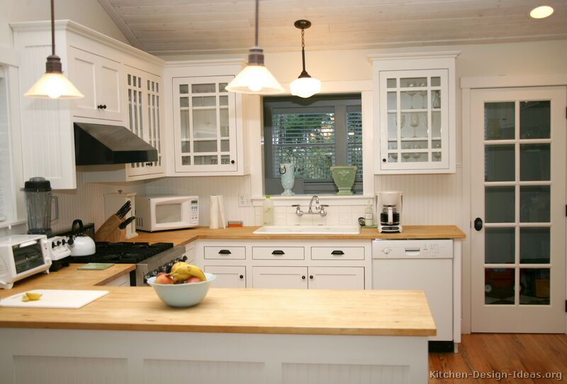 Pictures of kitchens traditional white kitchen for Kitchen counter design ideas
