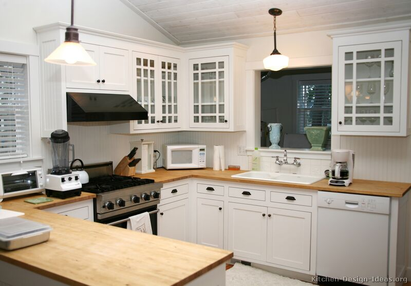 Wood And White Kitchen Pictures Of Kitchens  Traditional  White Kitchen Cabinets