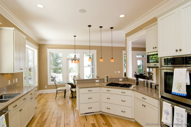 Pictures of kitchens traditional white kitchen cabinets for Traditional home kitchen ideas