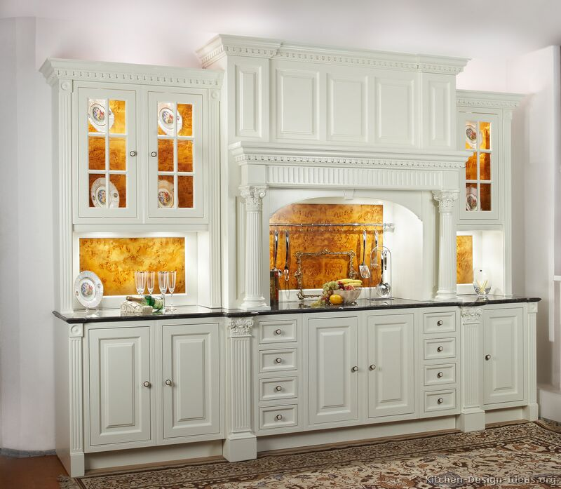 Pictures of kitchens traditional white kitchen for Kitchen designs with white cabinets