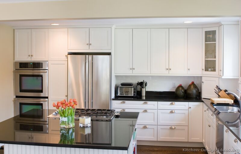 Kitchen Styles With White Cabinets pictures of kitchens - traditional - white kitchen cabinets