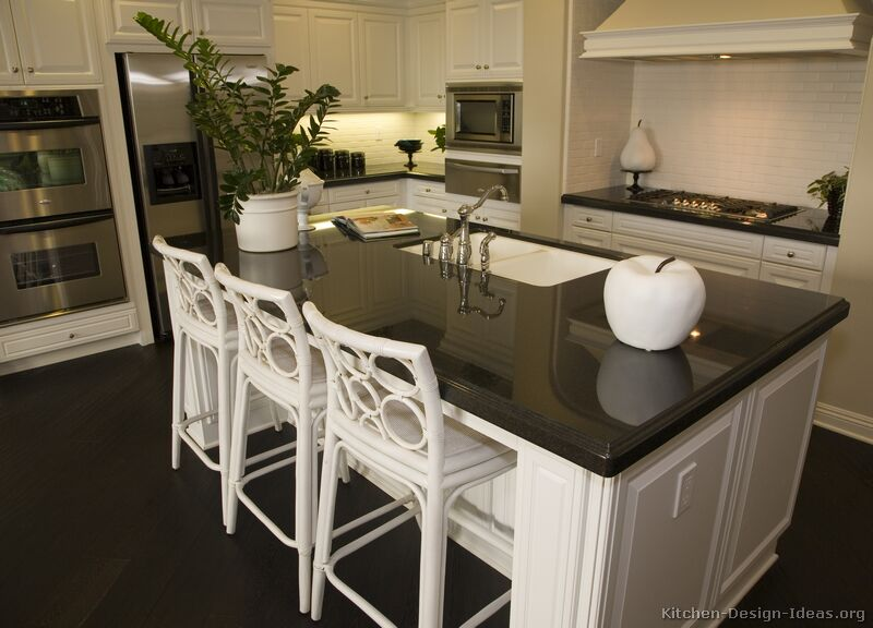 Pictures of kitchens traditional white kitchen for 4 seat kitchen island