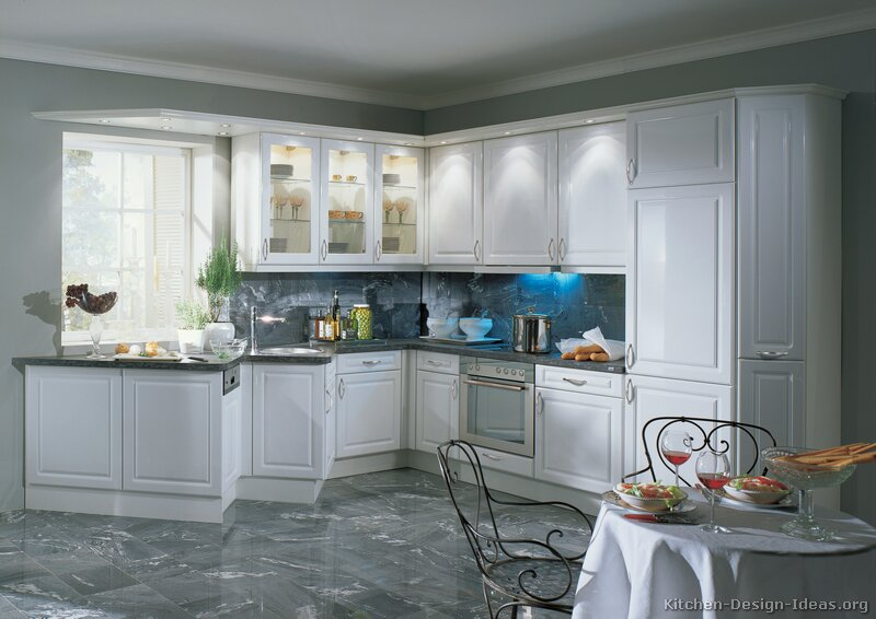 white cabinets with glass doors on Pinterest