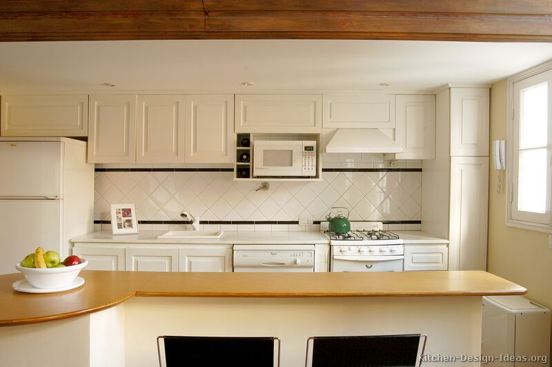 Traditional Backsplash Ideas Part - 41: 37, Traditional White Kitchen