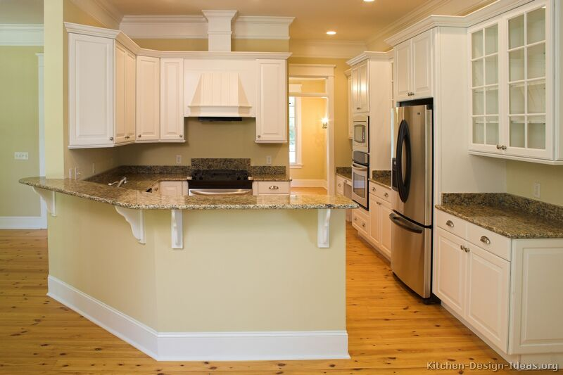 Pictures Of Kitchens Traditional White Kitchen Cabinets Kitchen 41