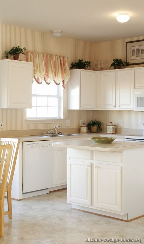 White small kitchen cabinets for Basic white kitchen units