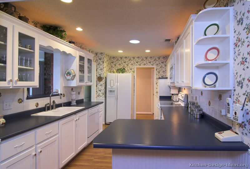 wallpaper kitchen cabinets. Color: White Kitchen Cabinets