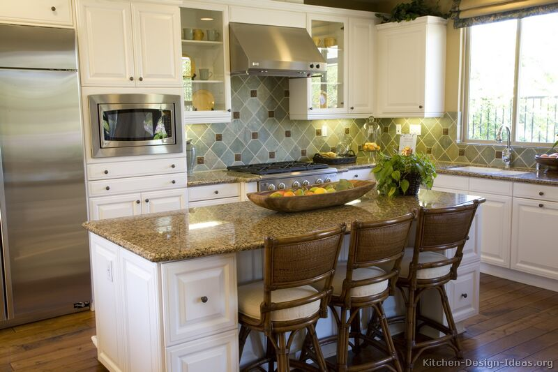 Kitchen Island Design Ideas ~ Pictures of kitchens traditional white kitchen