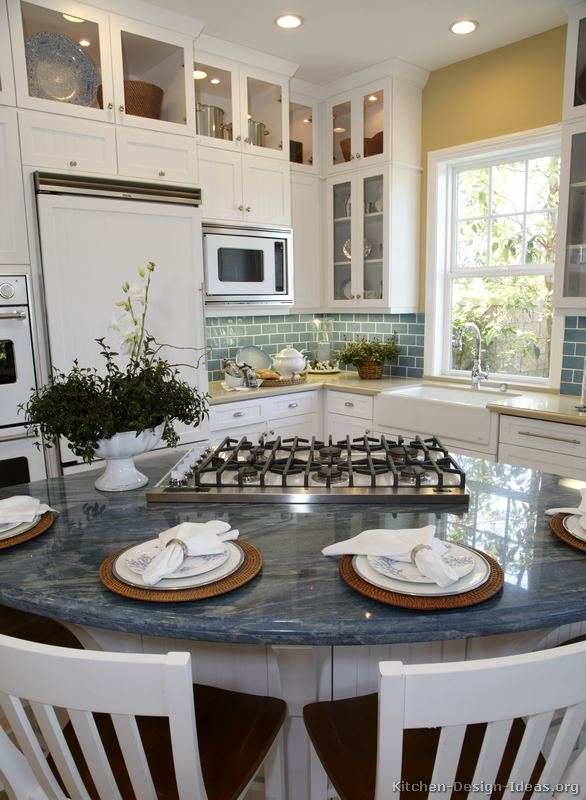 Ice blue granite kitchen countertop sapphire countertops for Blue countertop kitchen ideas