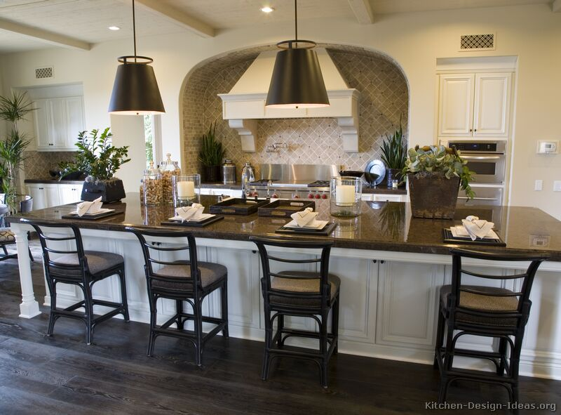 Kitchen Island Large gourmet kitchen design ideas