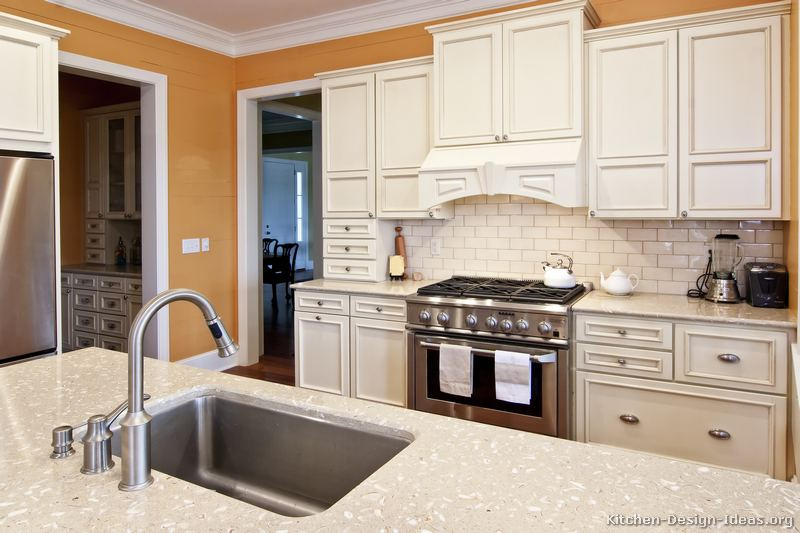 Pictures of kitchens traditional white kitchen cabinets kitchen 69 - Traditional kitchen tile backsplash ideas ...