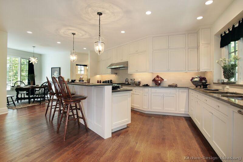 Dark Granite Countertops White Cabinets Backsplash Ideas