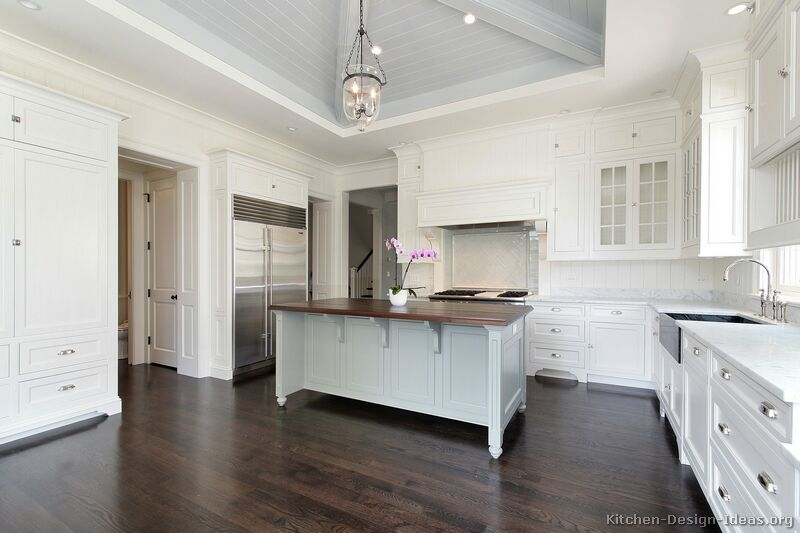 White Kitchens white kitchen with edgy color Traditional White Kitchen