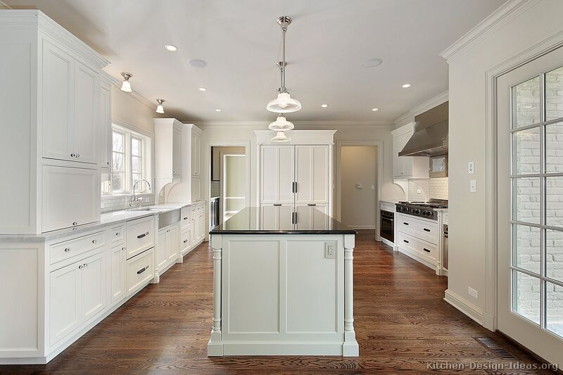 Pictures of kitchens traditional white kitchen for Kitchen cabinets ideas images