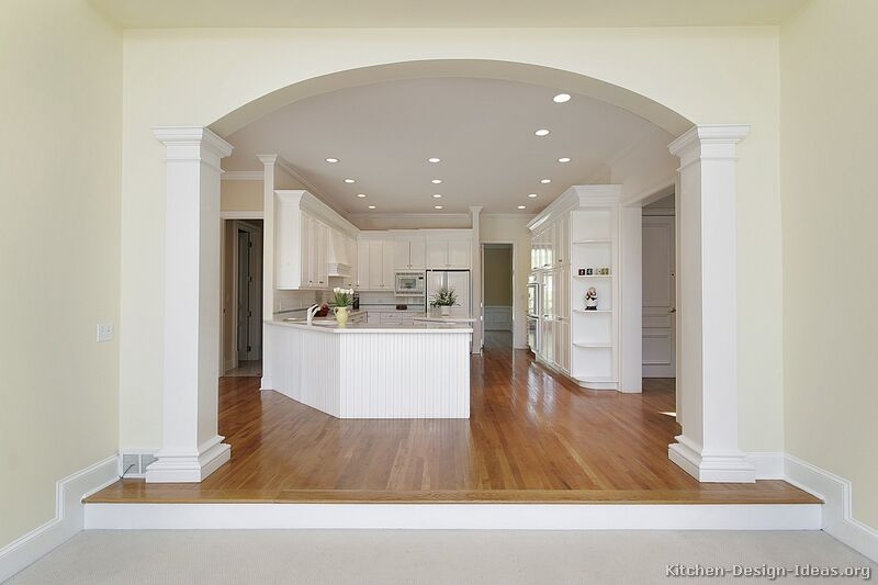 Pictures of kitchens traditional white kitchen for Interior arch designs photos
