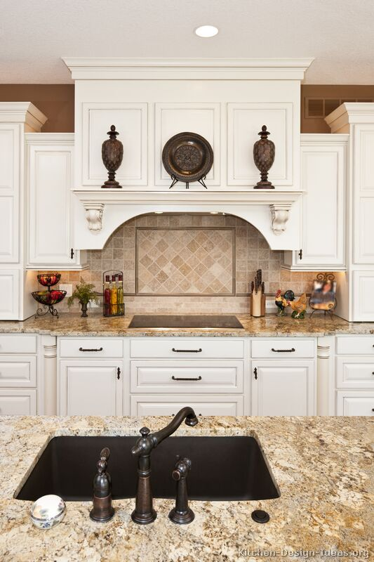 Pictures of kitchens traditional white kitchen for Traditional kitchen cabinet ideas