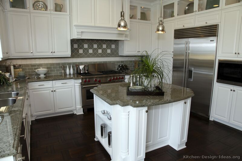Pictures of kitchens traditional white kitchen for Kitchen designs with white cupboards