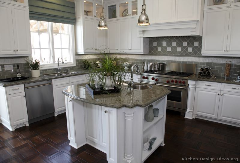 Of Kitchens Traditional White Kitchen Cabinets Kitchen 115