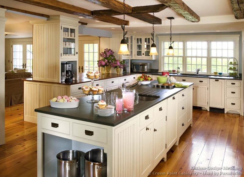 Country kitchen design pictures and decorating ideas - White cabinet kitchen design ...
