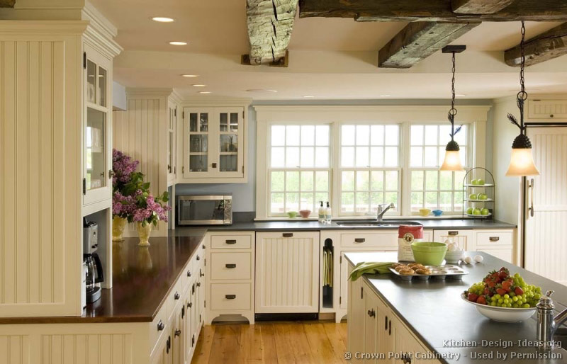 Country kitchen design pictures and decorating ideas smiuchin - White kitchen cabinet ideas ...