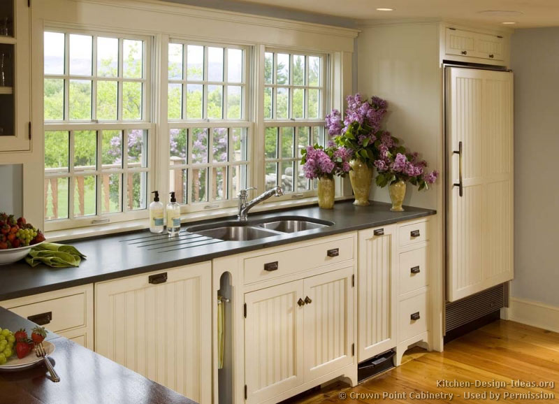 Country kitchen design pictures and decorating ideas for American window design