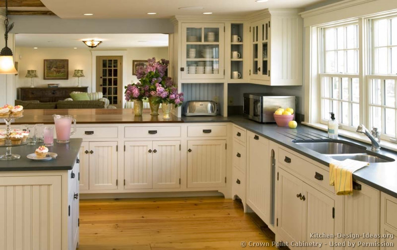 Pictures of kitchens traditional white kitchen - Country style kitchen cabinets ...