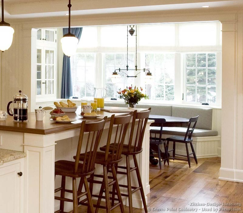 Pictures of kitchens traditional white kitchen Breakfast nook bar ideas