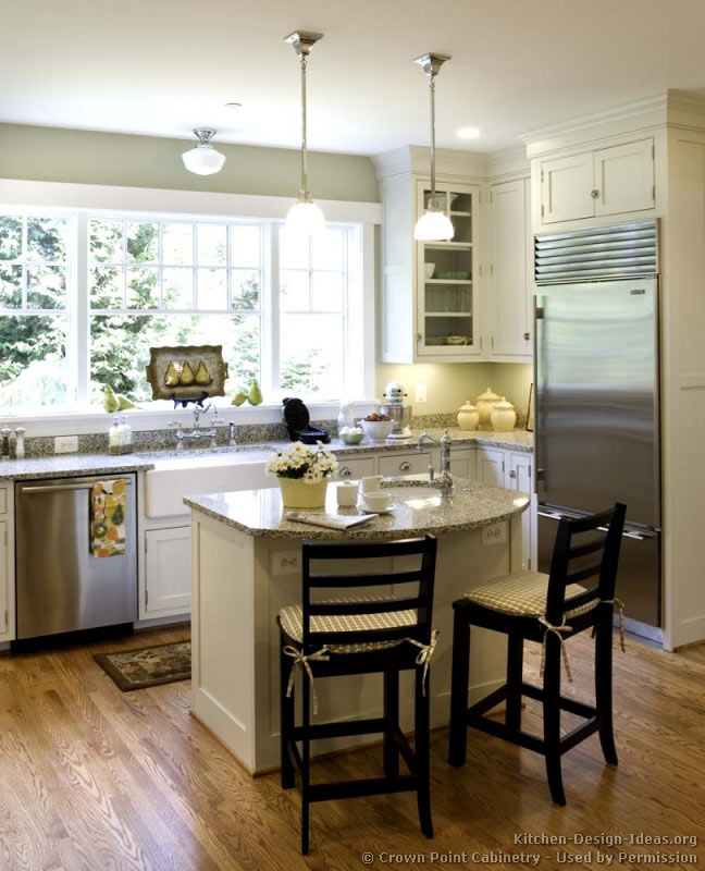 Small White Kitchen Island: Photo Gallery And Design Ideas