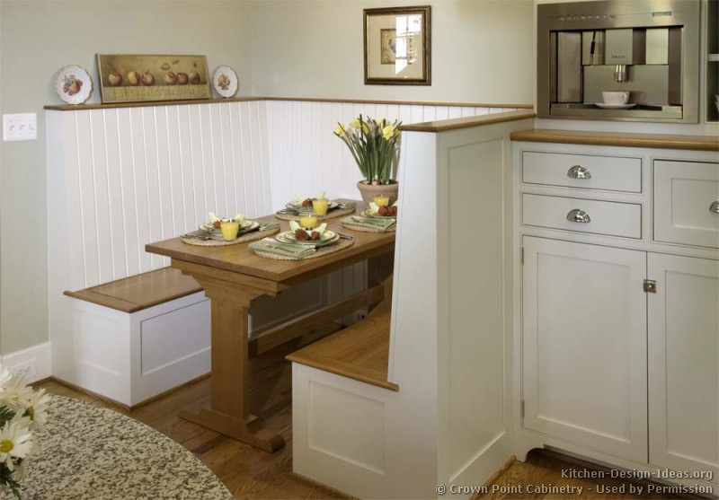 Cottage kitchens photo gallery and design ideas - Kitchen nook table ideas ...