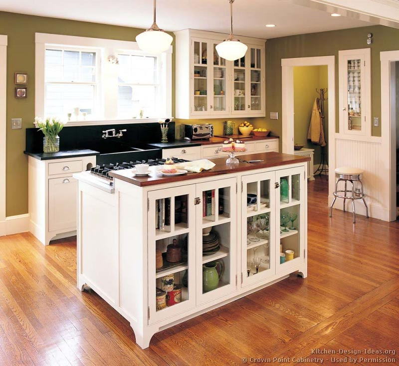 Pictures of kitchens traditional white kitchen for Kitchen cabinet remodel