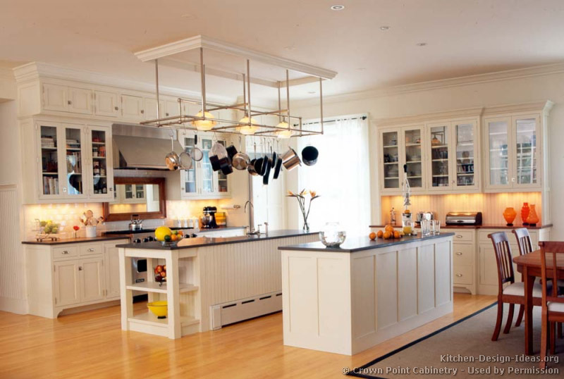 Kitchen Design White Cabinets Wood Floor. Traditional White Kitchen Design  Cabinets Wood Floor R