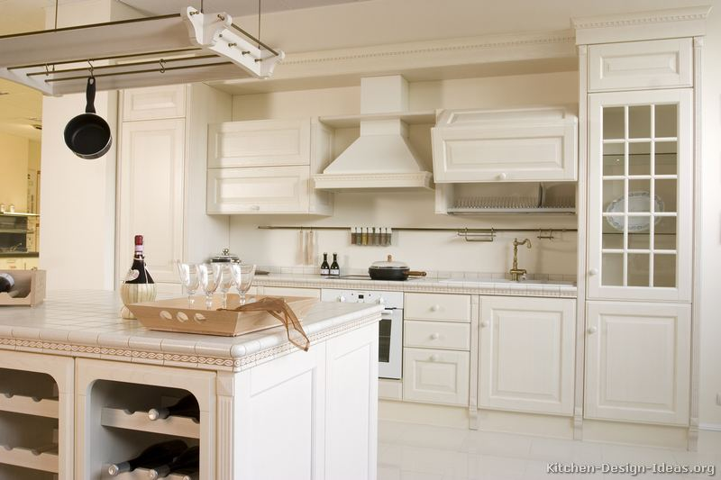 Pictures of kitchens traditional white kitchen for Kitchen white cabinets
