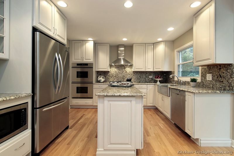 Pictures of kitchens traditional white kitchen cabinets kitchen 136 - Kitchen design ideas white cabinets ...