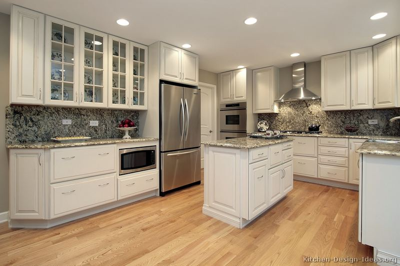 Pictures of kitchens traditional white kitchen cabinets page 5