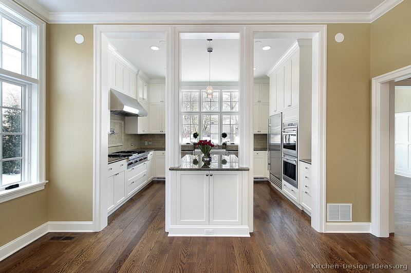 pictures of kitchens traditional white kitchen ForTraditional White Kitchen Cabinets