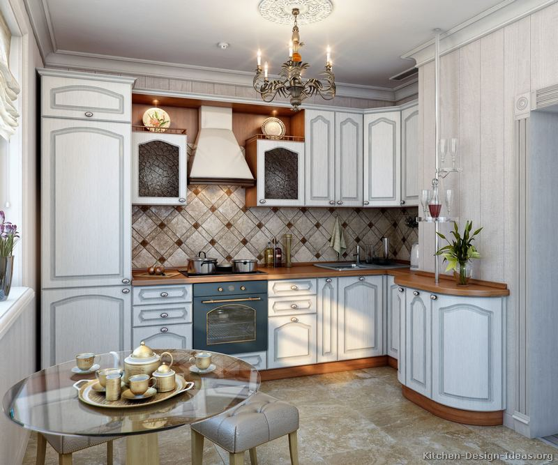 Traditional White Kitchen Design 3d Rendering: Pictures Of Kitchens