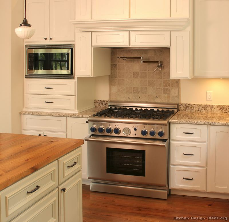 Pictures of kitchens traditional white kitchen for Kitchen remodel ideas pictures
